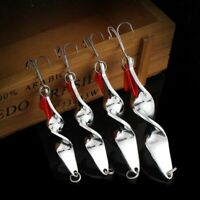 Metal Spoon Lure Fishing Lure Hard Lure Spinner Spoon Baits For Trout Pike P S5U
