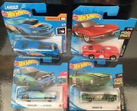 Hot Wheels Bundle 4 cars Camaro Corvette Toyota Triumph