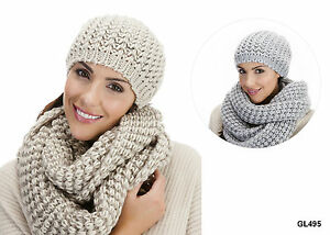 Ladies Cable Knit Beanie Hat