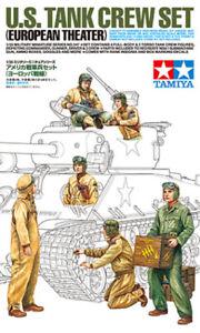 TAMIYA 35347 WWII U.S. Tank Crew Set (European Theater) Plastic Model Kit 1/35