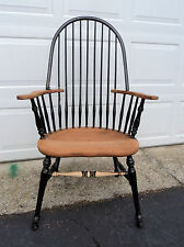 """Windsor Chair Bow Back Plank Seat Spindles Reproduction """"As Is� Repairs Needed"""