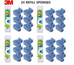 24x 3M Scotch Brite Disposable Toilet Scrubber Cleaning System Refills 557 FRESH