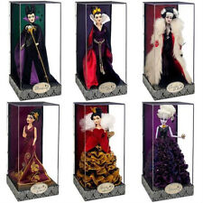 Disney Designer Villains Ursula Queen of Hearts Maleficent Doll set ALL 6 #618