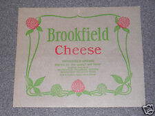 Vintage Swift Company Paper Brookfield Cheese Wrapper