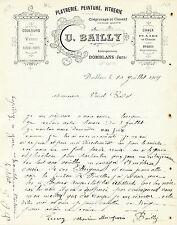 Dépt 39 - Domblans - U. BAILLY - Platrerie, Peinture, Vitrerie du 10/07/1909