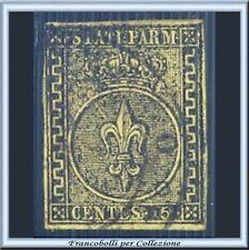 ASI 1852 Parma cent. 5 giallo arancio n. 1 su Usato Antichi Stati  Italiani