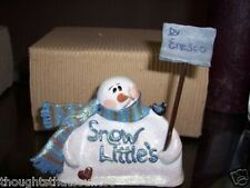 Enesco Snow Littles by Donna Little Logo ~Mib 299510 * Free Usa Shipping
