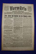 VORWÄRTS (29. Oktober 1915): Pirot, Zajecar und Knajevac von d. Bulgaren erobert