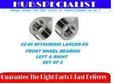 2002-2006 MITSUBISHI LANCER-ES FRONT WHEEL HUB BEARING-LEFT&RIGHT-PAIR NEW