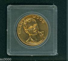 New listing 1980 Grant Wood Gold Medal 1 Oz. Commemorative American Art Series Beautiful !