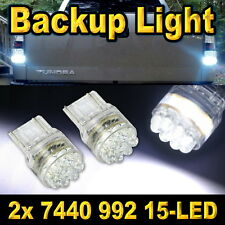 2x Bright White 7440 Led Back Up Reverse Light Bulbs 15-LED 7441 992