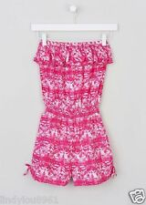 Lovely Pink Bandeau Girls Playsuit Age 14 BNWT
