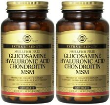 Solgar Glucosamine Hyaluronic Acid Chondroitin MSM 120 (2 Pack)