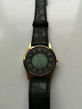 Quartz Watch - Digital - Gold Plated w/ Leather Strap - 15-20cm Wrist (02)