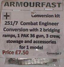Guerra temprano 20mm (1/72) Armourfast Alemán Sd Kfz 251/7 Pioneer conversión