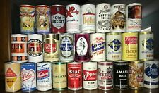 Lot of 27 Different Bottom Opened Steel Beer Cans - Free Shipping