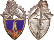107° Régiment d'Artillerie Lourde Automobile, petite pastille gravée, D.Ber.Dep.