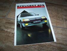 Catalogue  / Brochure PEUGEOT 205 GTI 1986 //