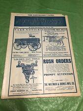 MAY 28 1907 FARM MACHINERY MAGAZINE EBBERT FARM WAGON HAY PRESS PLANTER PLOW