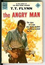 THE ANGRY MAN by TT Flynn, rare US Dell 1st Edition pulp western pulp vintage pb