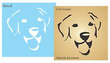 """Stencil 4"""" Labrador Puppy Dog Face Pumpkin Halloween Art Kennel Pet Sign Blocks"""