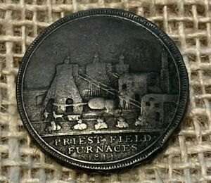 1811 Bilston and Priestfields Collieries and Ironworks Copper Penny Token
