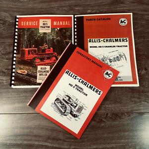 SET ALLIS CHALMERS HD 5 CRAWLER TRACTOR SERVICE PARTS OPERATORS MANUAL SHOP BOOK