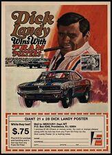 1970 DICK LANDY Drag Race Car Driver Wins With FRAM & DODGE CHARGER VINTAGE AD