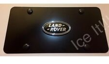 LAND ROVER LICENSE PLATE MATTE BLACK Heavy Duty 1mm Thick With Bolts & Screws