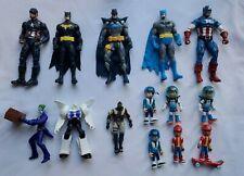 Batman Captain America and random action figures Action Figure14 altogether used