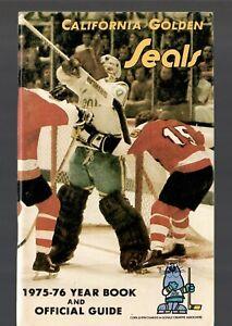 ORIGINAL 1975-76 CALIFORNIA GOLDEN SEALS NHL MEDIA GUIDE YEARBOOK FACT BOOK