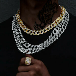 Men's Neckalce 18K Gold Plated Cuban Link Chain Stainless Steel Chain AU