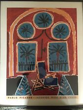 Pablo Picasso Interior With Blue Chair