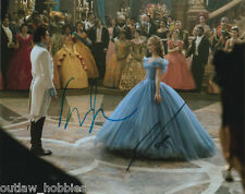 Lily James Richard Madden Cinderella Autographed Signed 8x10 Photo COA E