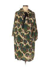 2012 MARNI at H&M Hooded Green Silk Print Dress Anorak Parka Style - US 6 MINT!