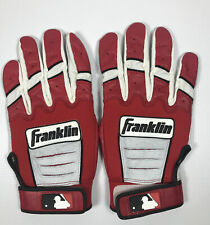 Red and White Franklin CFX Pro Batting Gloves Size Large