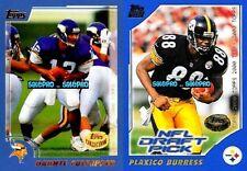 2x TOPPS 2000 DAUNTE CULPEPPER #145 NFL RC PLAXICO BURRESS #386 MINT ROOKIE LOT