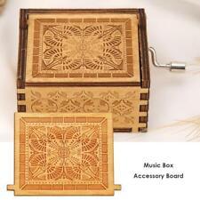 Retro Wooden Hand Cranked Music Box Board Accessories Christmas Kids Gift Decor