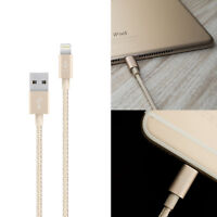 Genuine Belkin MFi Lightning USB iPhone Xs/8/8+/7+/6S/6/5/SE Braided Sync Cable