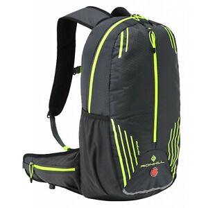 Ronhill COMMUTER 15L Pack High Viz Running Backpack Rucksack Black Yellow LP£60