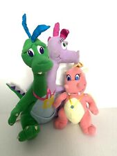Playskool Dragon Tales Mystical Plush Stuffed Dragons Cassie Zak And Wheezie