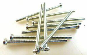 M4 70mm Stainless Steel Pozi Pan Head Machine Screws 10 Pieces MBE0013G