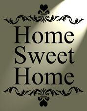 Shabby Chic rústico de la plantilla Home Sweet Home corazón Vintage Estilo A4 297x210mm Pared