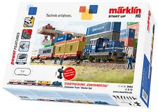 """Märklin 29453 start up envase de inicio """"containerzug"""" con diesellok dhg 700 nue..."""