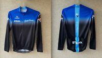 Cuore Cycling Shirt Strava Gran Fondo Jersey Size M Camiseta Cycle Blue