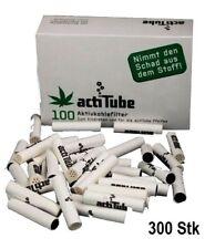 300x actiTUBE (ex-TUNE) AKTIVKOHLEFILTER, 8mm, smart smoking,worldwide shipping