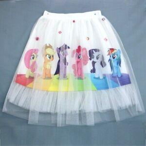 Kids Girls My Little Pony Tutu Skirt Petticoat Party Costume Cosplay