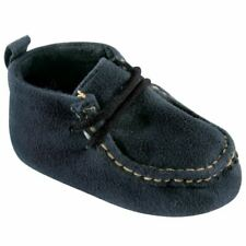 Luvable Friends Boy Wallabee Inspired Boots, Navy