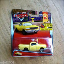 Disney PIXAR Cars JAY W. diecast 2015 RACE FANS theme 4/9 antenna Yellow Truck