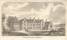 1862 ANTIQUE PRINT- THE GODOLPHIN SCHOOL, HAMMERSMITH